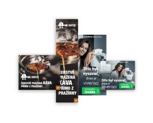 Ukázky reklam v reálném provozu