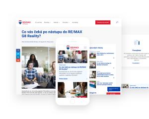 Vzdušný web pro RE/MAX G8 Reality